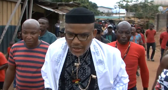 Biafra leader Nnamdi Kanu goes to court over IPOB terrorism tag