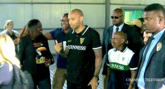 PHOTOS: Arsenal Legend Thierry Henry Visits Nigeria