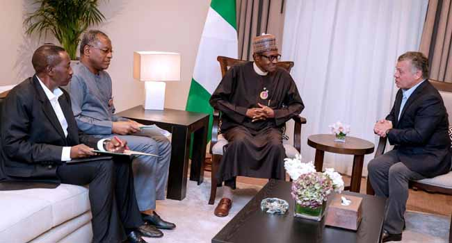 President, Muhammadu Buhari returns from Jordan