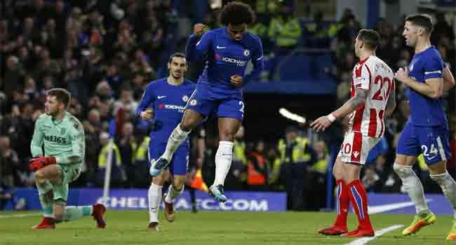 Dominant Chelsea swept Stoke City aside at Stamford Bridge