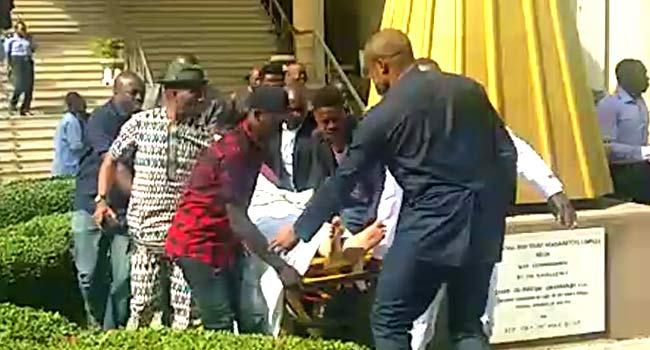 Image result for Olisa Metuh Collapses In Court