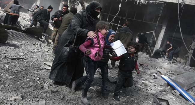 77 Killed In Syria Bombardment Of Rebel Enclave