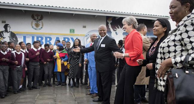 Theresa May in SA 5