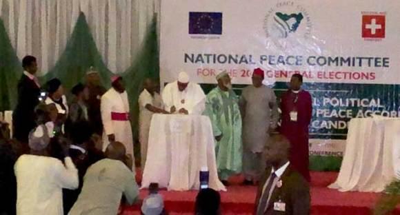 Atiku, Ezekwesili Absent As Buhari And Other Candidates Sign Peace Accord