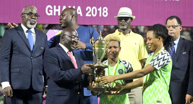 Super Falcons Win AWCON 2 20018