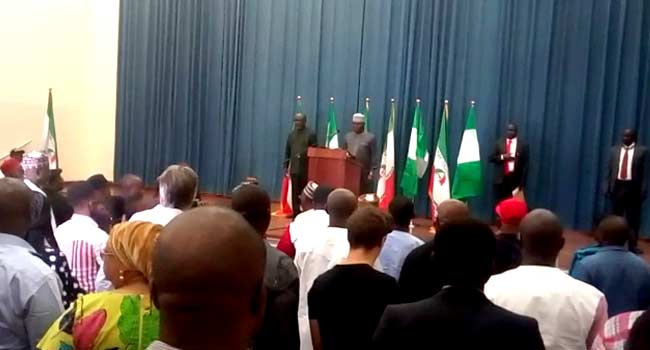 Onnoghen's Suspension: Atiku Holds Press Conference, Accuses FG Of Breaching Constitution
