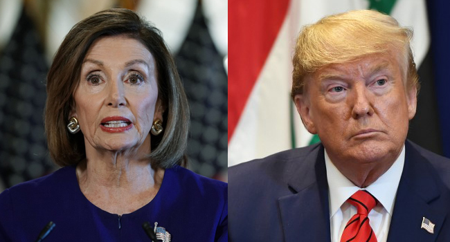 Nancy Pelosi says the House is moving forward with an impeachment inquiry of Trump. AFP Photos