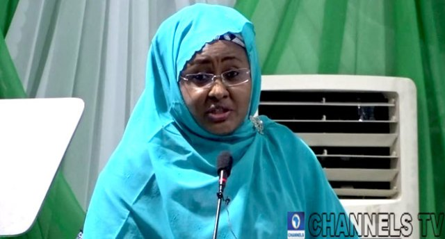 A file photo of Nigeria's First Lady, Aisha Buhari