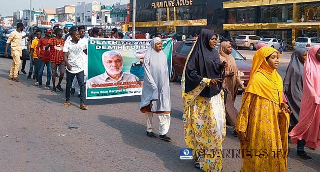 A file photo of an IMN protest.