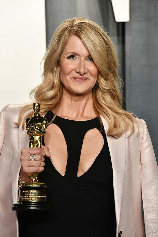 Laura Dern attends the 2020 Vanity Fair Oscar Party hosted by Radhika Jones at Wallis Annenberg Center for the Performing Arts on February 09, 2020 in Beverly Hills, California. Frazer Harrison/Getty Images/AFP