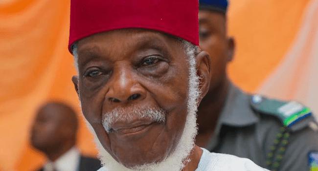 A file photo of late Yoruba politician, Pa. Ayo Fasanmi