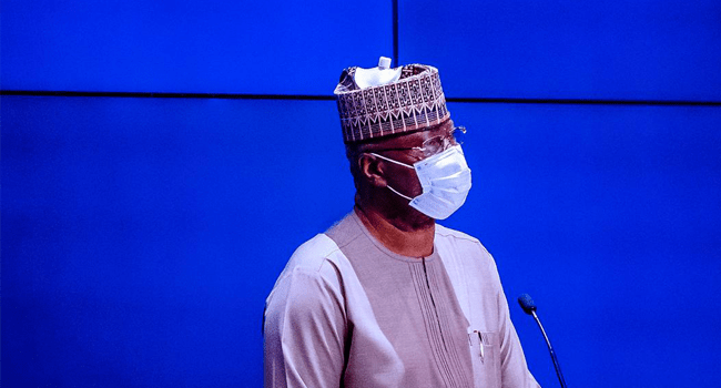 A file photo of Secretary to the Government of the Federation (SGF), Boss Mustapha.