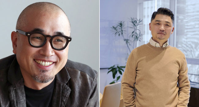 A collage of two S-Korean billionaires (Kim Bong-jin