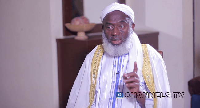 Sheikh Ahmad Gumi made an appearance on Channels TV's Politics Today on February 22, 2021.