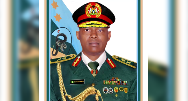 An official portrait of Major General Sani Gambo Mohammed.