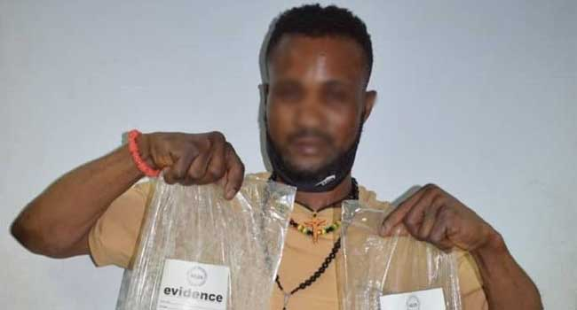 Suspected Trafficker arrested with ₦564m worth of Heroin in Abuja