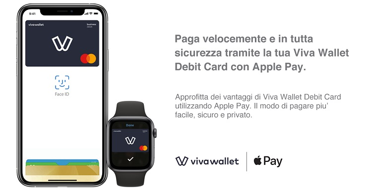 Viva Wallet accoglie il servizio Apple Pay