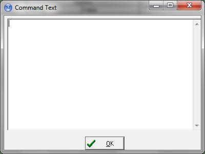 Command Text Dialog