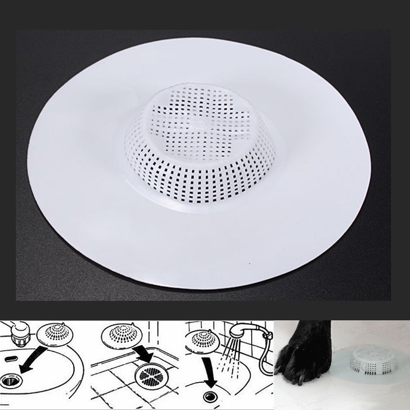 Bath Tub Hair Catcher Stopper Trap Shower Basin Drain Hole Plug Strainer Filter EBay