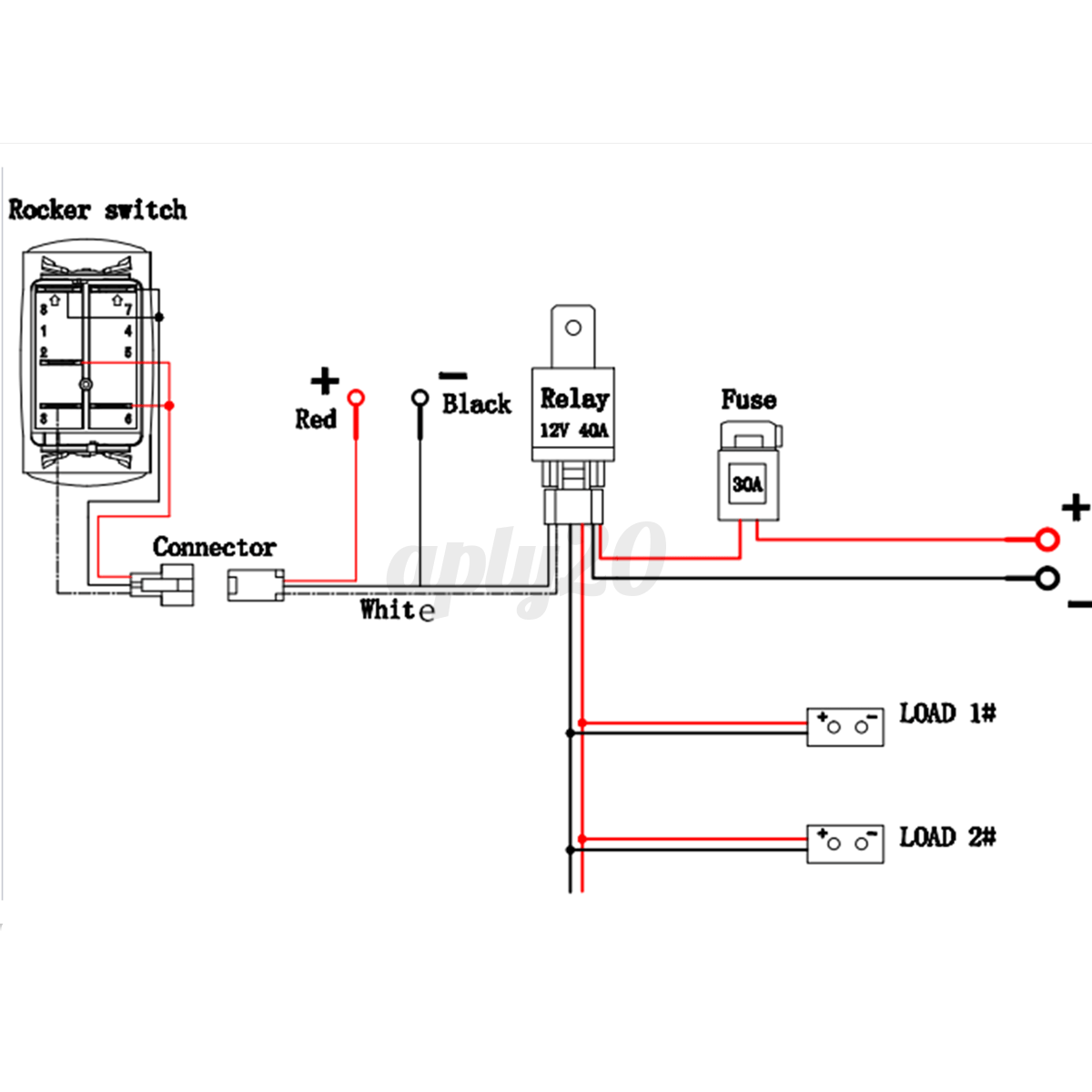 12 Volt Dc Relay Wire Schematic
