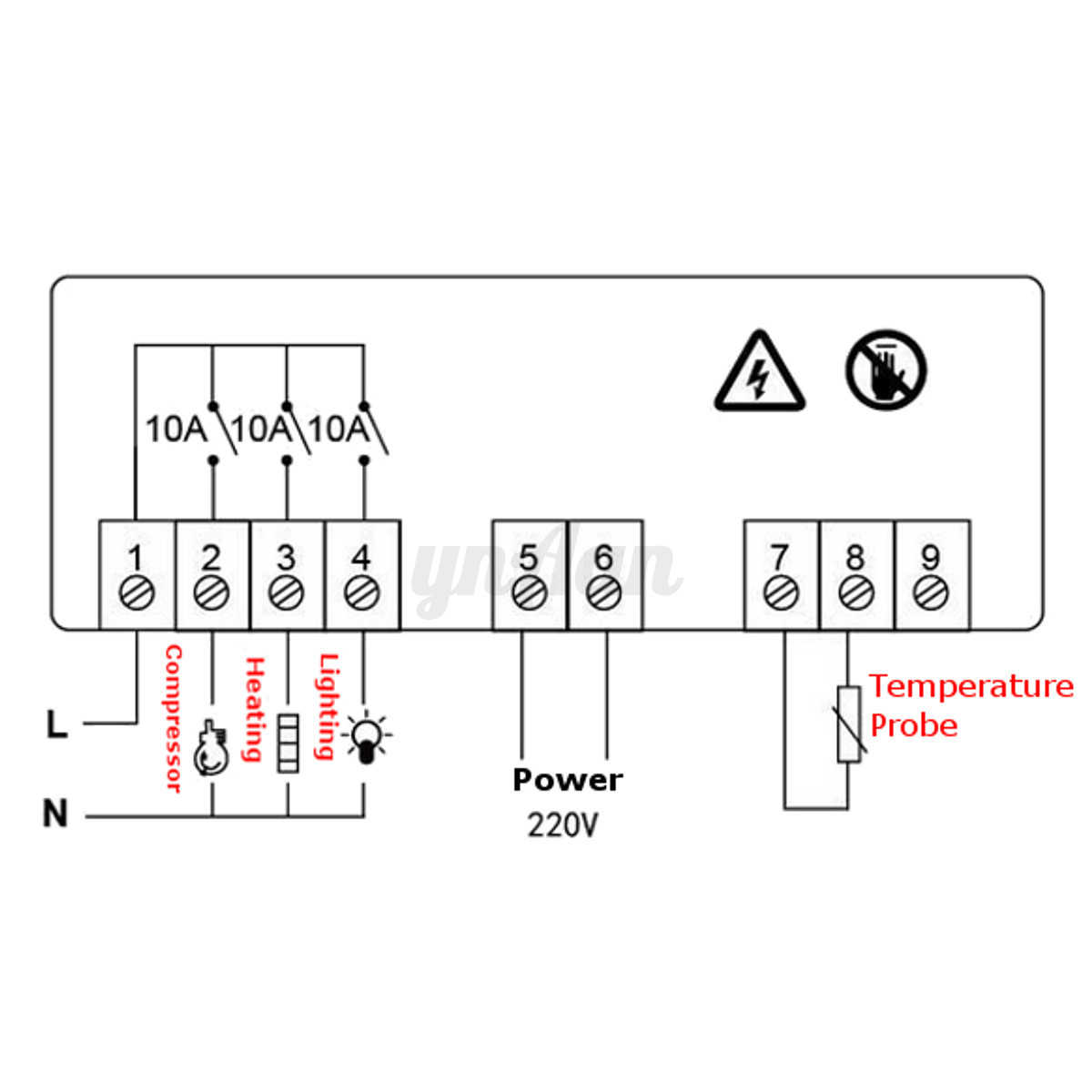 Digital Temperaturregler 220v Thermostat Controller