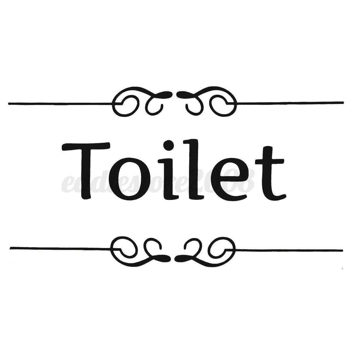 Bathroom Toilet Laundry Room Wall Stickers Art Decal Door