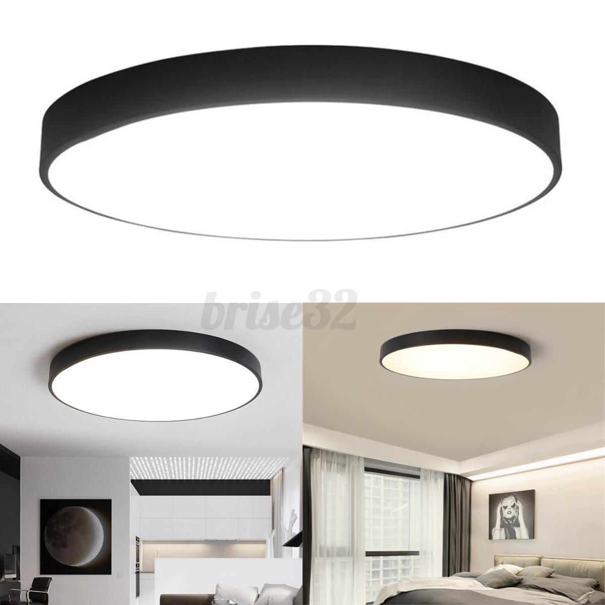 Round LED Ceiling Down Light Fixture Home Bedroom Living Room Surface Mount Lamp EBay