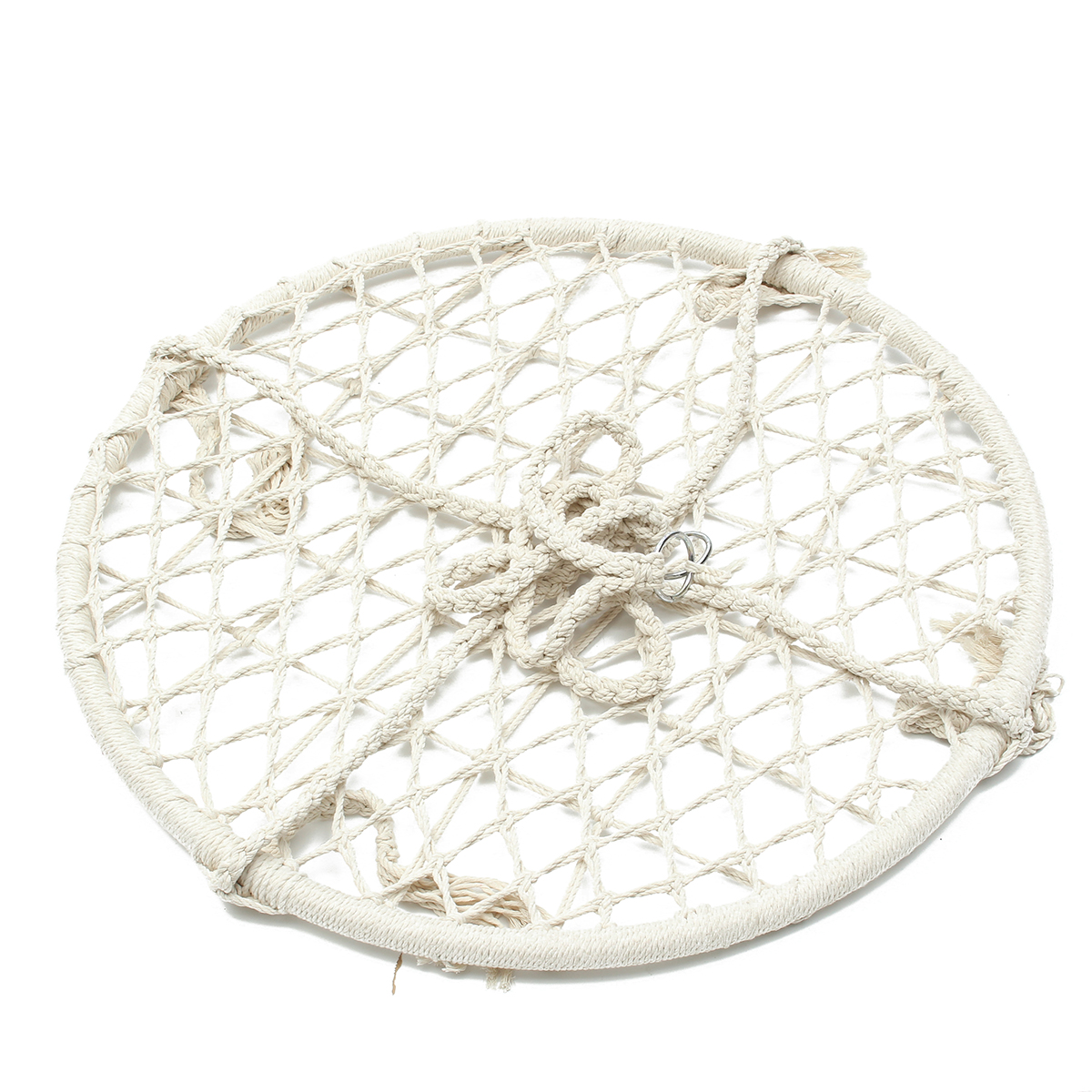 White Rope Hammock Round Macrame Net Hanging Chairs Swing