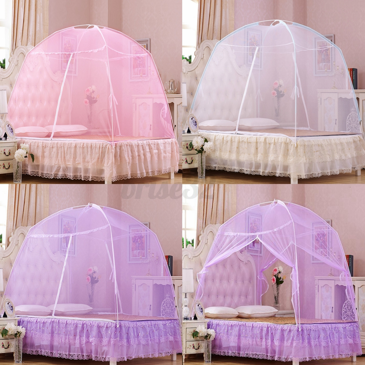 3 Color Portable Hight Qc Bedding Canopy Mosquito Net Tent