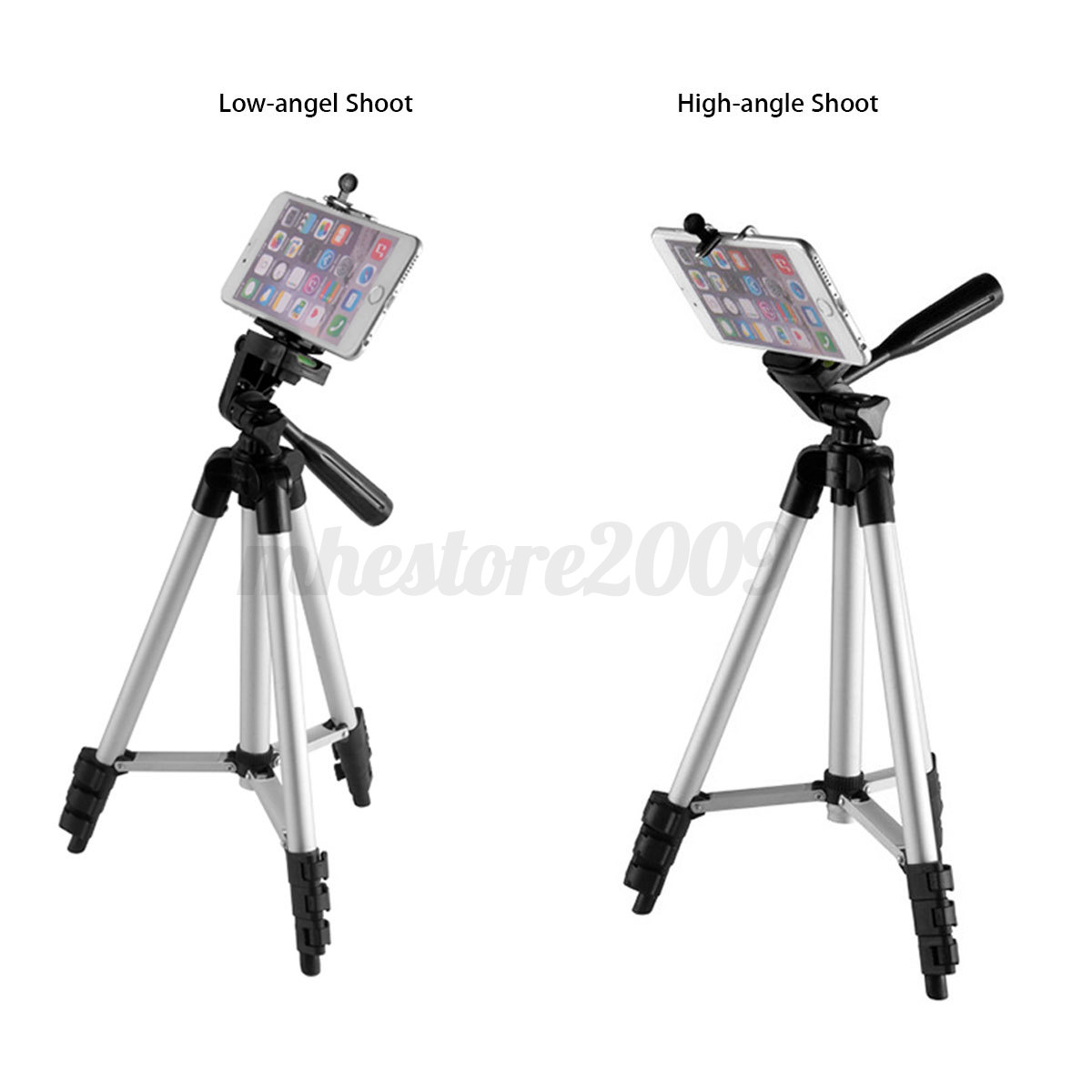 Professional Camera Tripod Stand Holder Mount For Iphone Samsung Phone With Bag