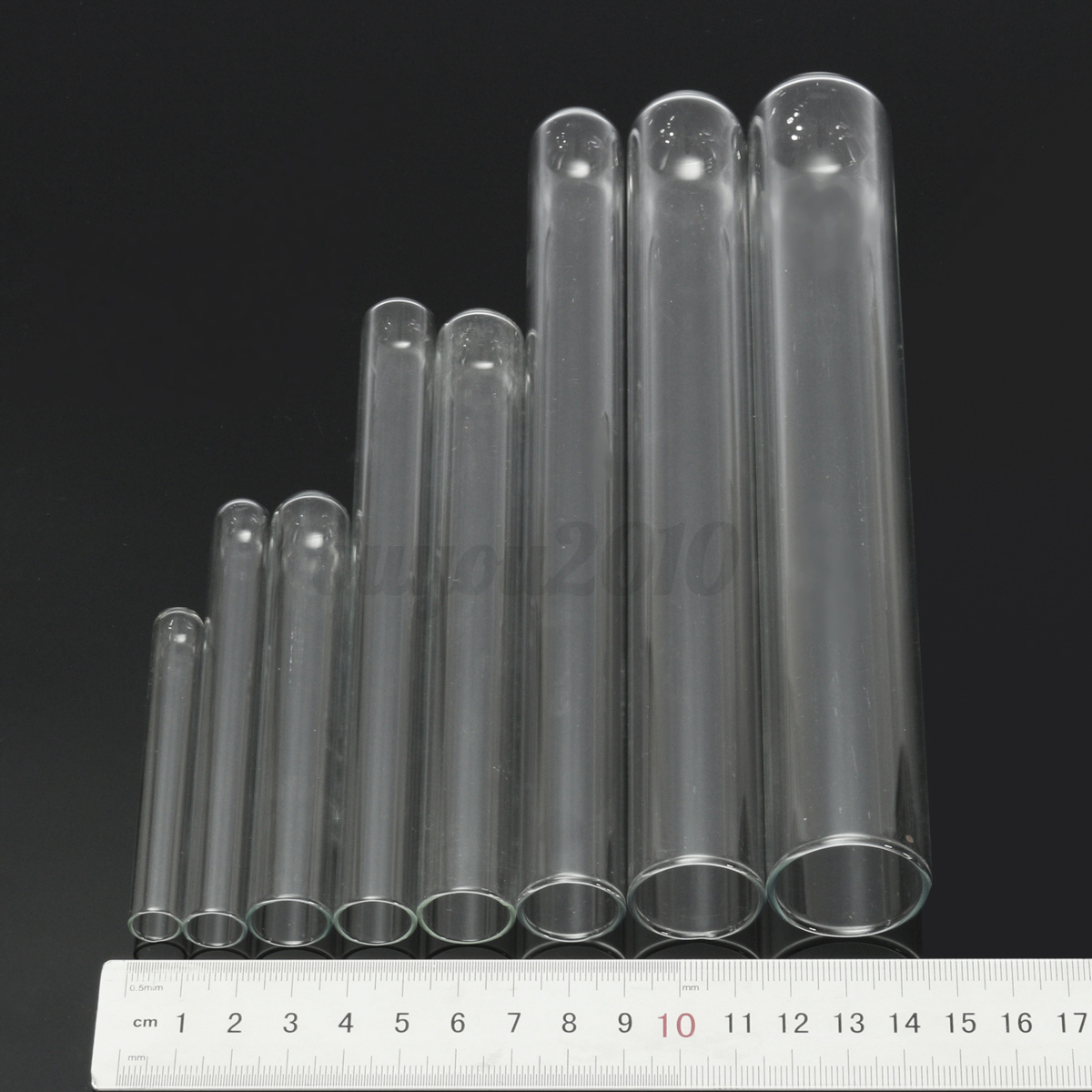 5pcs Chemistry Borosilicate Glass Culture Test Tubes Lab Teaching Glassware