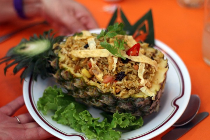 Delicious pineapple fried rice