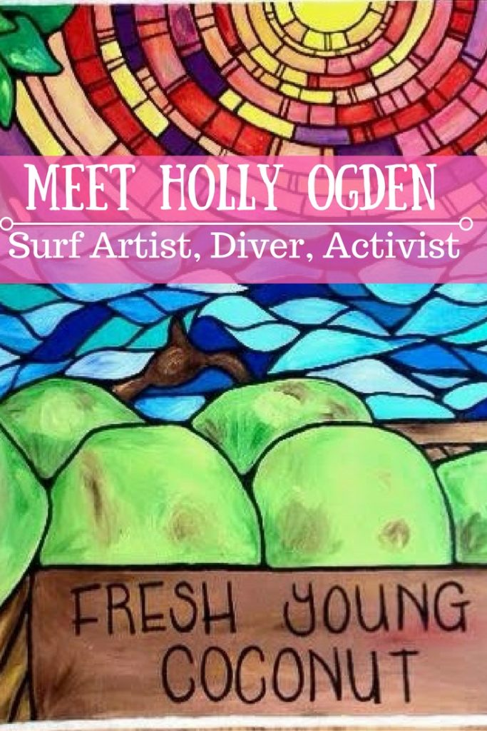 Holly Ogden is a diver, activist, and artist who gets her inspiration from the ocean. Read about what motivates her, her positive outlook, and what you can do to help the sea.