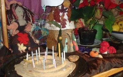 Spirale et table d'automne