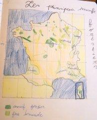 Carte des principaux massifs forestiers