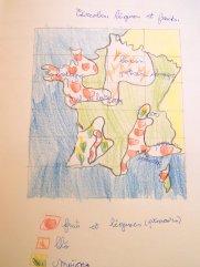 Carte des régions agricoles françaises
