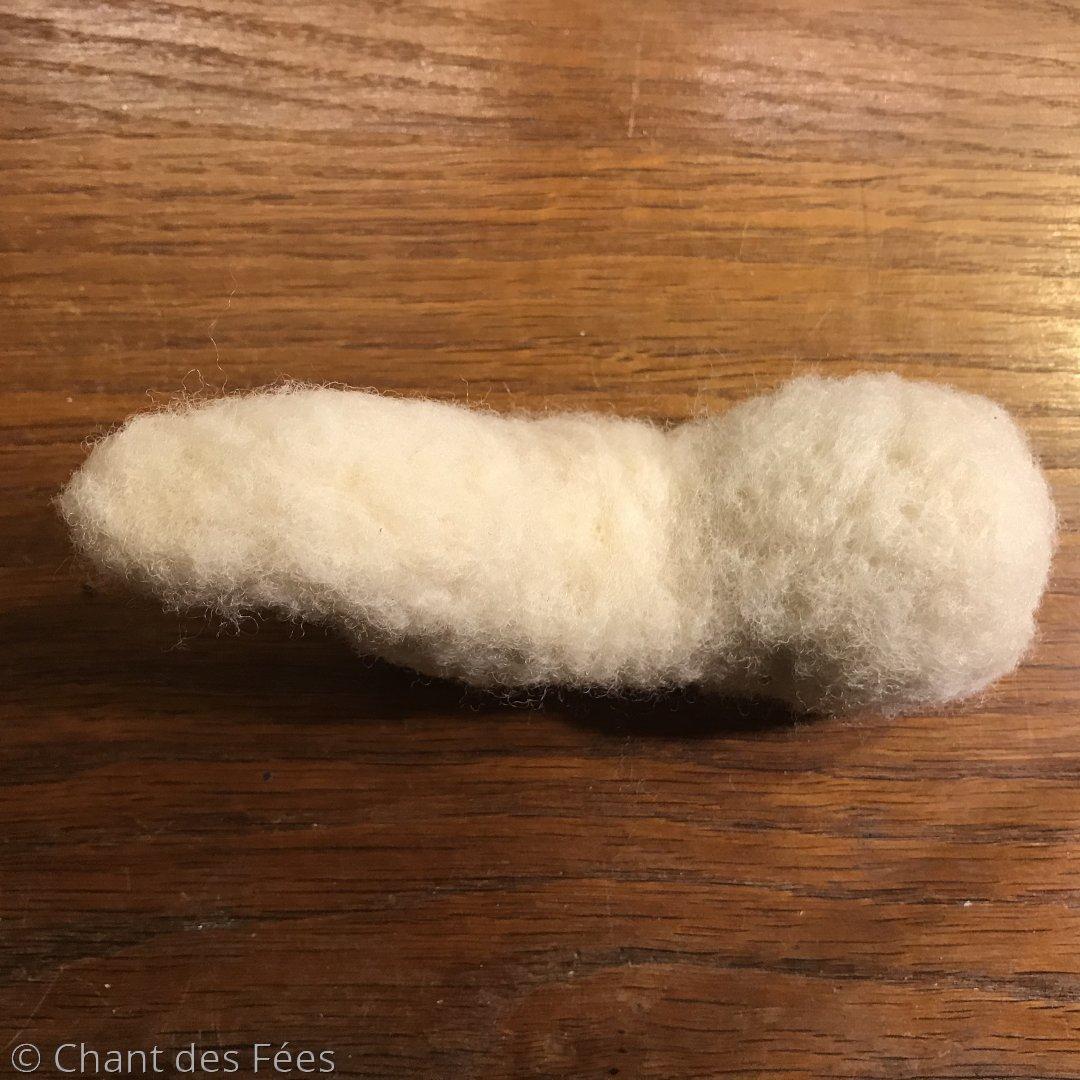 boeuf en laine feutrée