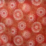 Orange Fleece Circles
