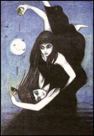 Sinister Tarot, VI. Les Amoureux. Christos Beest.