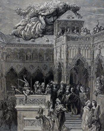 Gargantua observe Thélème, Gustave Doré, 1873.
