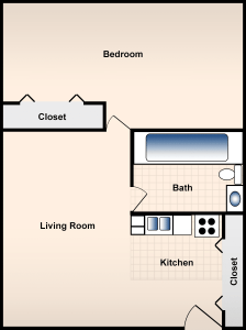 1 Bed / 1 Bath / 490 sq ft / Availability: Please Call / Deposit: $300