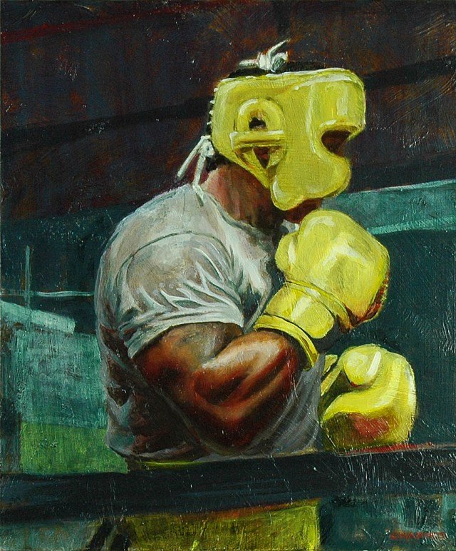 In The Ring, 2013 oil on panel 15x18