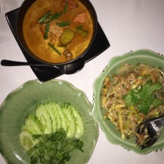 Thai food at trisara resort