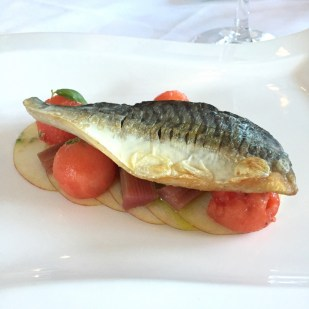 Seabass dish at The Lugger Hotel restaurant