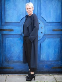 Karin Barnhoorn wearing & other stories ada kokosar navy coat