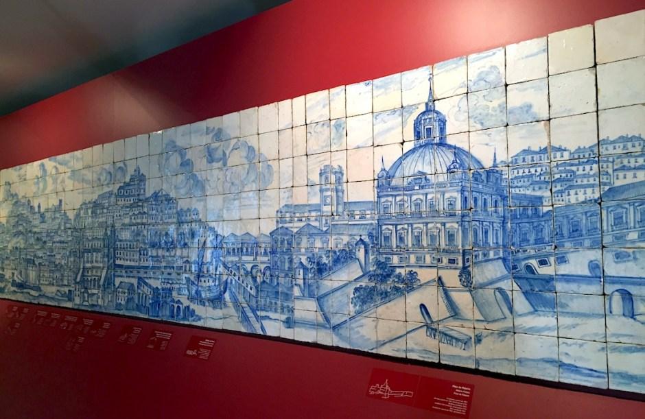 Panorama Lisbon tiles