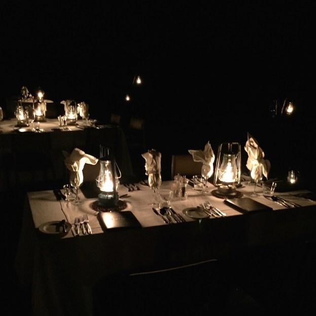Outside candlelit dinner Sabi Sabi Earth Lodge