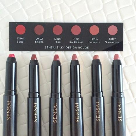 Sensai Silky Design Rouge line-up pencils