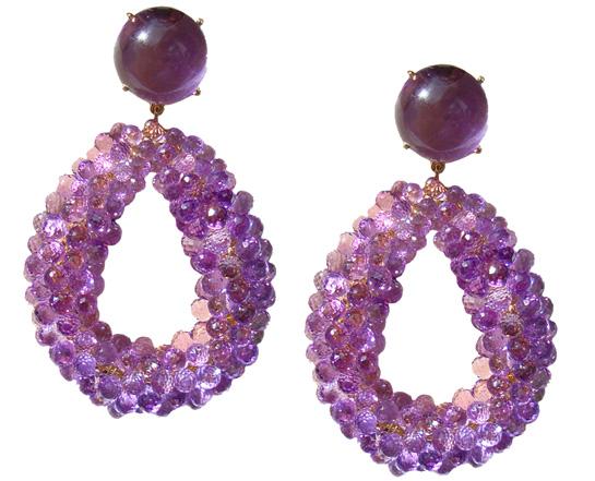 Bodes Bode amethyst earrings