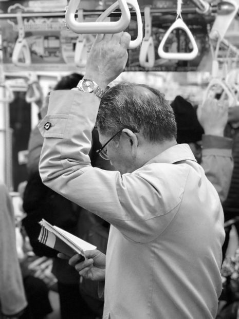 Tokyo man on metro